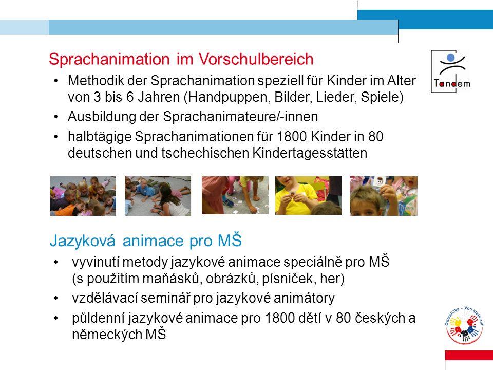 Sprachanimation im Vorschulbereich Methodik der Sprachanimation speziell für Kinder im Alter von 3 bis 6 Jahren (Handpuppen, Bilder, Lieder, Spiele) A