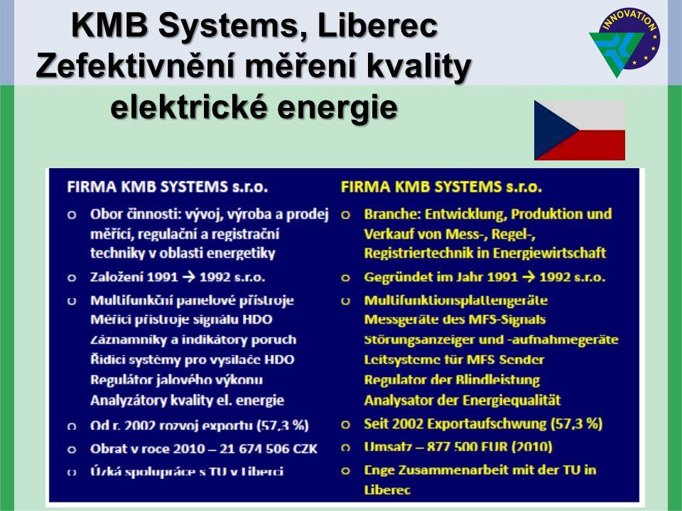 KMB Systems, Liberec Zefektivnění měření kvality elektrické energie