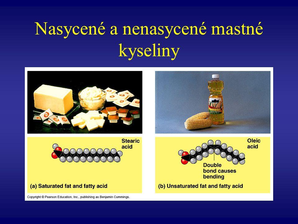 Nasycené a nenasycené mastné kyseliny