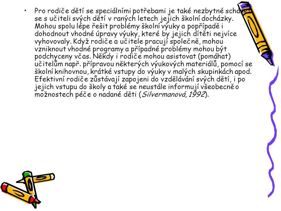 Vhodné aktivity pro nadané předškoláky: PORTEŠOVÁ, Š.