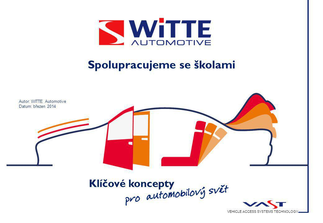 VEHICLE ACCESS SYSTEMS TECHNOLOGY WITTE  STRATTEC  ADAC Klíčové koncepty VEHICLE ACCESS SYSTEMS TECHNOLOGY Spolupracujeme se školami Autor: WITTE Au