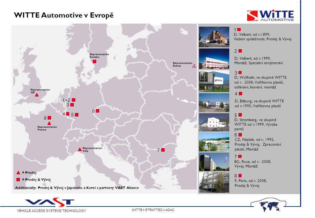 VEHICLE ACCESS SYSTEMS TECHNOLOGY WITTE  STRATTEC  ADAC WITTE Automotive v Evropě D, Velbert, od r.1899, Vedení společnosti, Prodej & Vývoj CZ, Nejdek, od r.