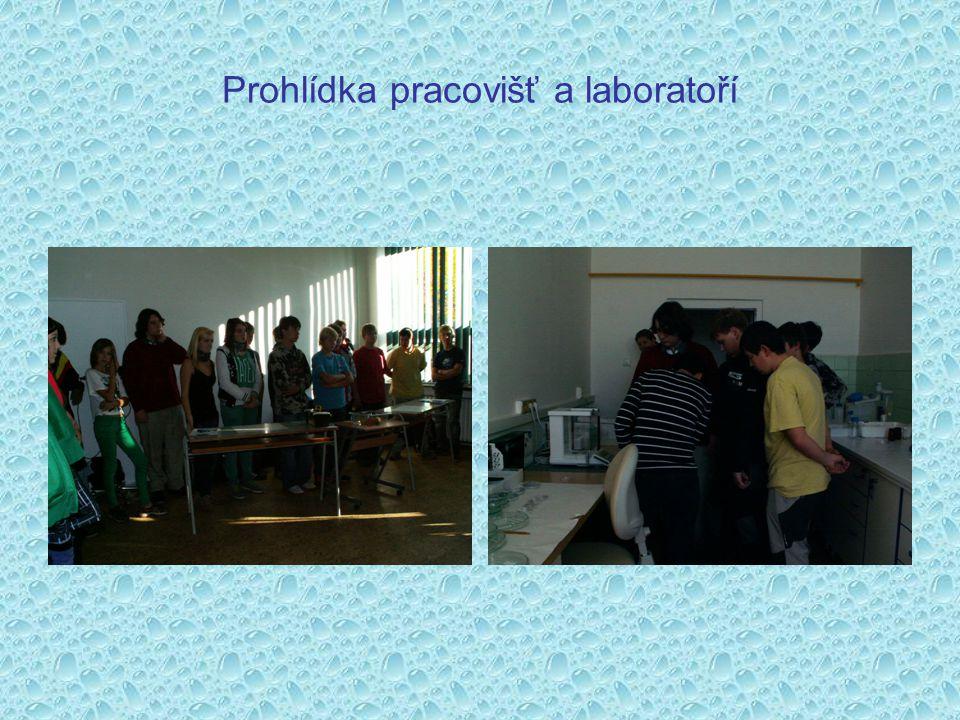 Prohlídka pracovišť a laboratoří