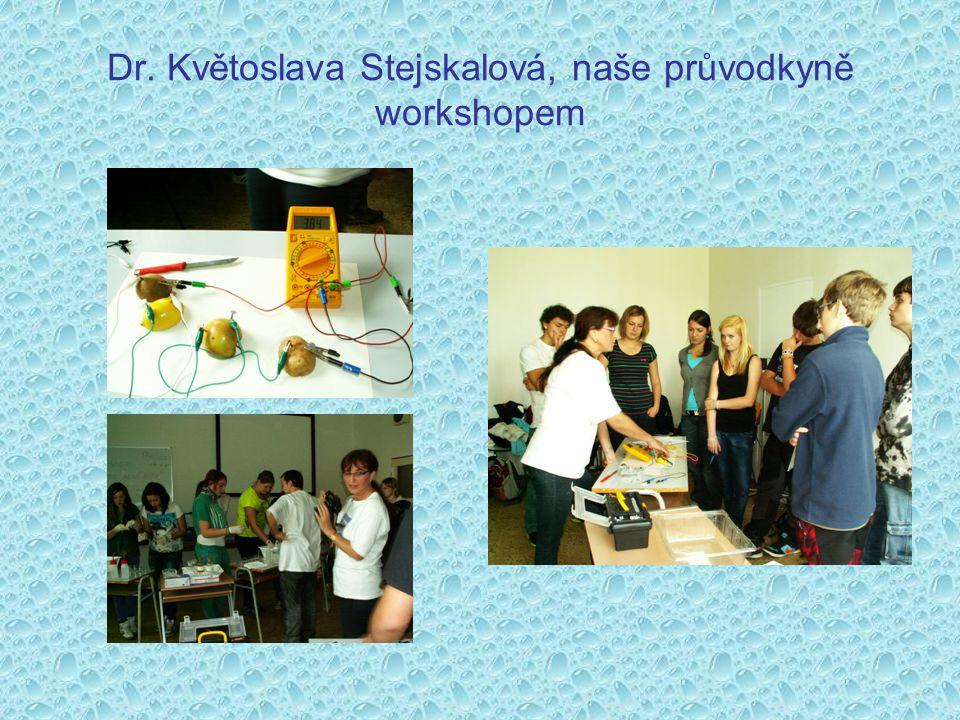 Dr. Květoslava Stejskalová, naše průvodkyně workshopem