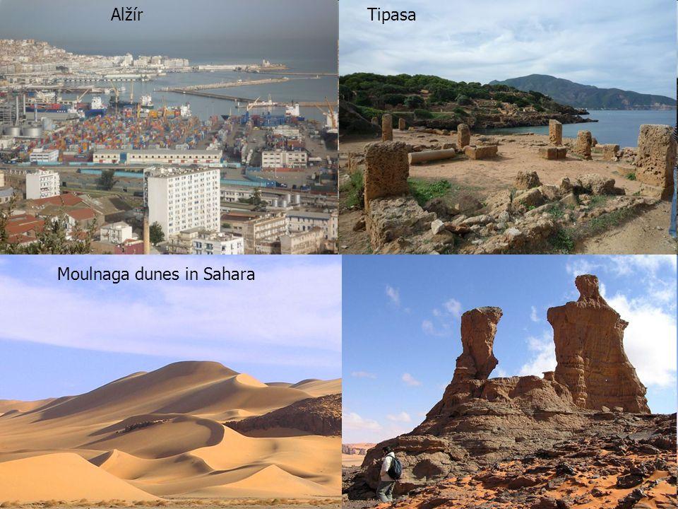 AlžírTipasa Moulnaga dunes in Sahara