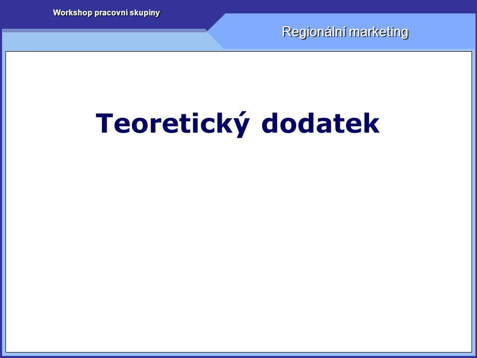 Workshop pracovní skupiny Regionální marketing Teoretický dodatek
