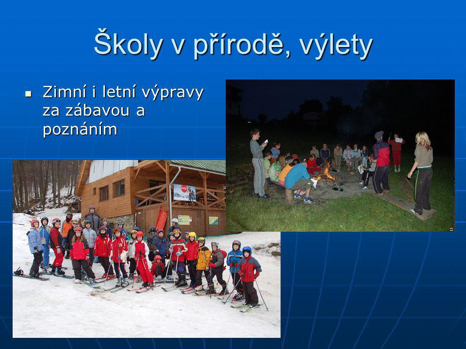 Školy v přírodě, výlety Zimní i letní výpravy za zábavou a poznáním Zimní i letní výpravy za zábavou a poznáním