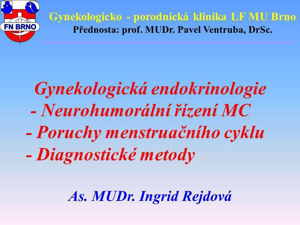Gynekologicko - porodnická klinika LF MU Brno Přednosta: prof. MUDr. Pavel Ventruba, DrSc. Gynekologická endokrinologie - Neurohumorální řízení MC - P
