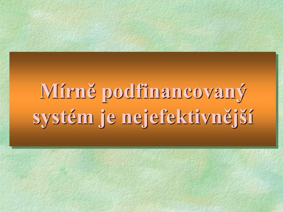 Mírně podfinancovaný systém je nejefektivnější
