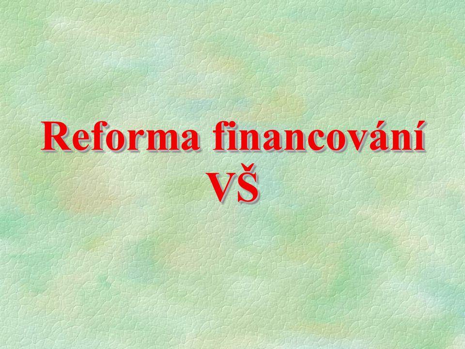 Reforma financování VŠ