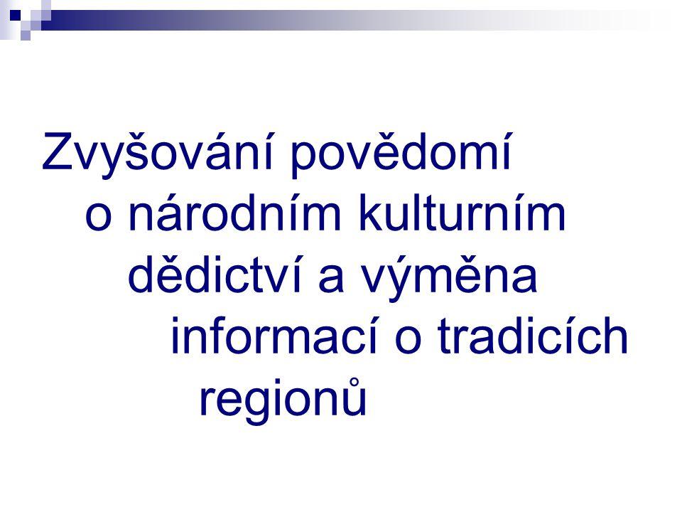 Zvyšování povědomí o národním kulturním dědictví a výměna informací o tradicích regionů