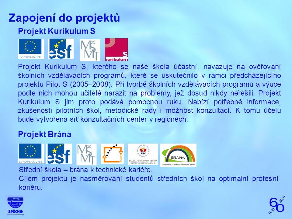 Zapojení do projektů Projekt Kurikulum S Projekt Kurikulum S, kterého se naše škola účastní, navazuje na ověřování školních vzdělávacích programů, kte
