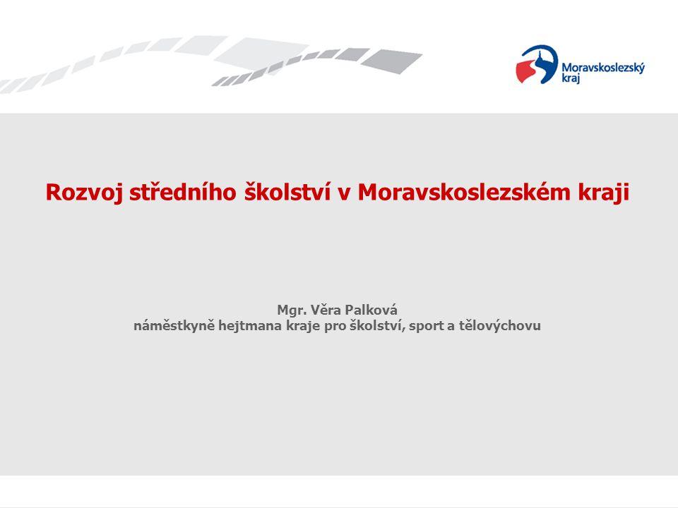 Rozvoj středního školství v Moravskoslezském kraji Mgr.