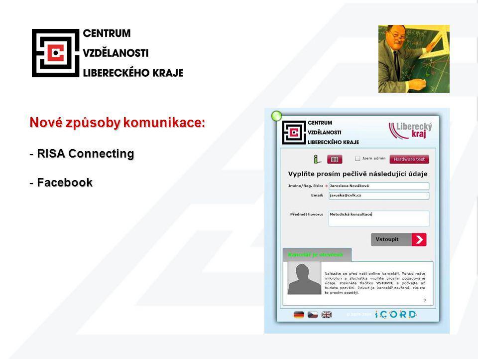 Nové způsoby komunikace: - RISA Connecting - Facebook