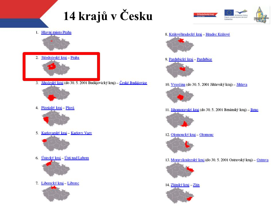 14 krajů v Česku