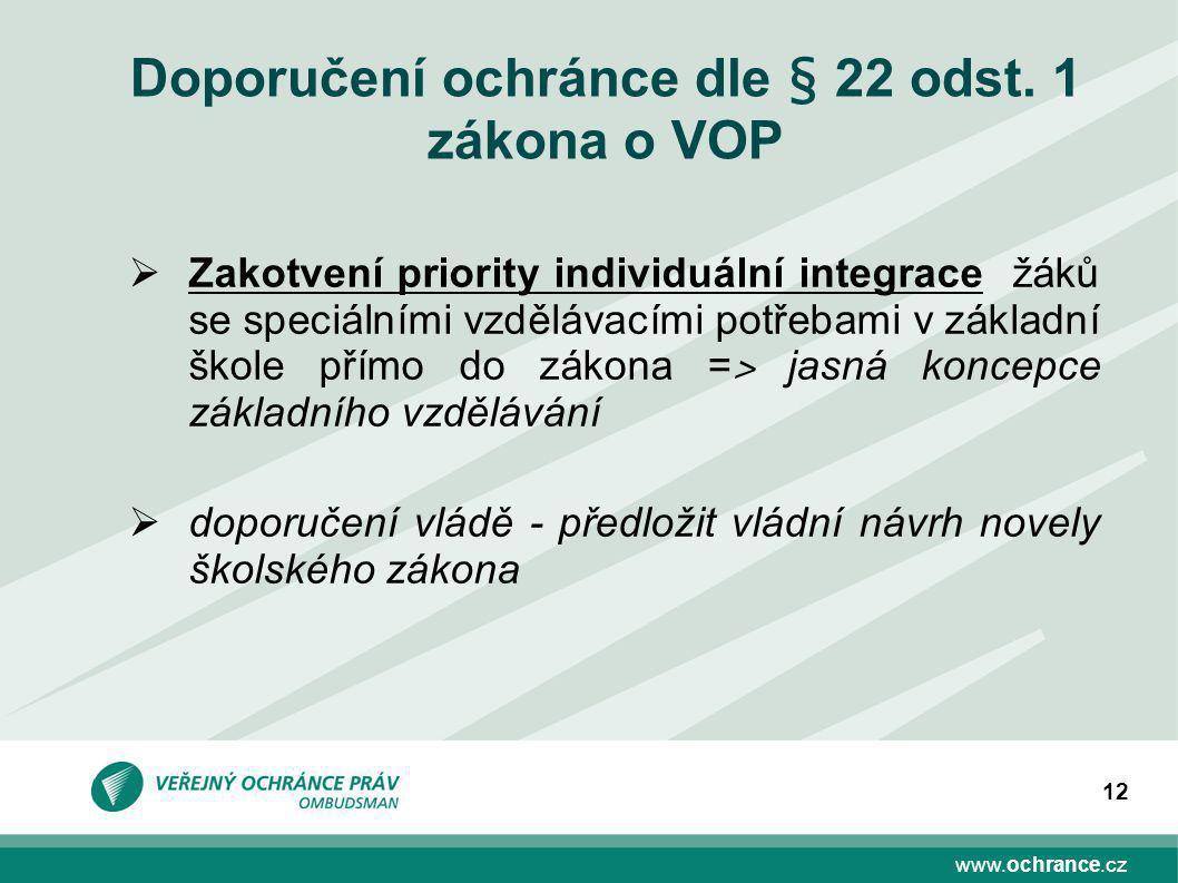 www.ochrance.cz 12 Doporučení ochránce dle § 22 odst.