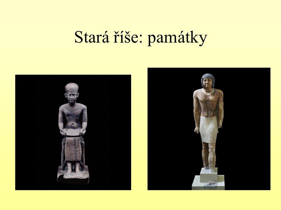 Egyptský reliéf : ukázka
