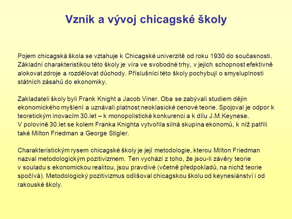 FRANK KNIGHT Frank Knight je někdy považován za zakladatele chicagské školy.