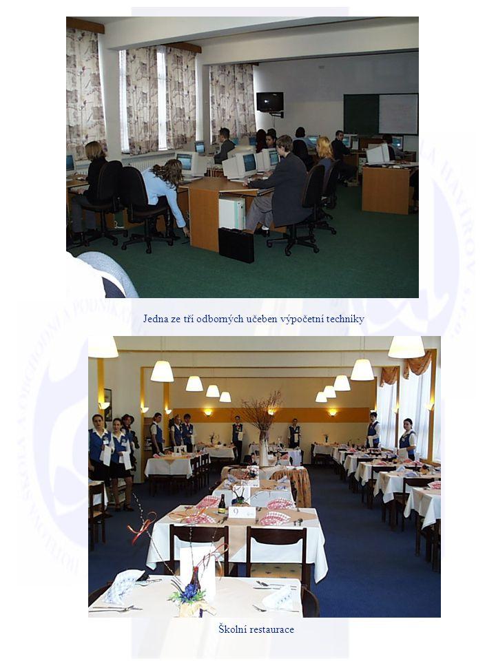Současné vzdělávací aktivity Program Název oboru délka forma 65-41-NGastronomie a služby cestovního ruchu 3 r.denní 68-43-NVeřejná správa3 r.denní další aktivity : - zahraniční stáže (účast na PROJEKTECH – Leonardo da Vinci) Regionální kuchyně a turisticky atraktivní místa dané oblasti (ve spolupráci se školou Komvux v Haninge ve Švédsku) Srovnání moderní obsluhy při vstupu do třetího tisíciletí ve vybraných evropských regionech (Polsko, Švédsko, Itálie) Zásady zdravé racionální výživy a trendy v přípravě pokrmů kuchyní jiných národů (Slovensko, Irsko, Itálie, Španělsko).