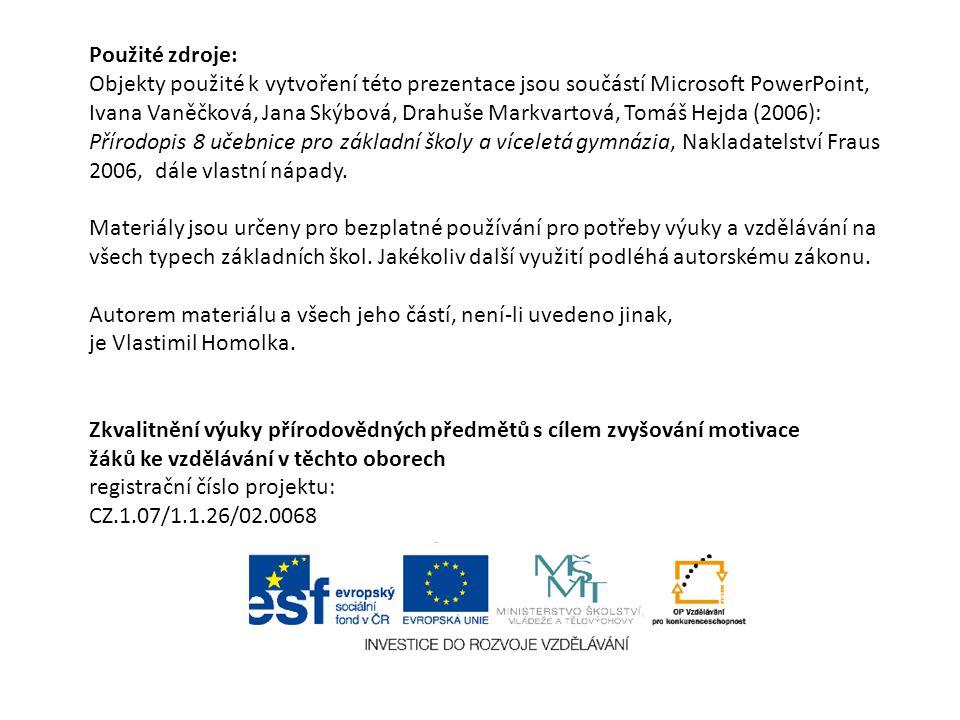 Použité zdroje: Objekty použité k vytvoření této prezentace jsou součástí Microsoft PowerPoint, Ivana Vaněčková, Jana Skýbová, Drahuše Markvartová, To