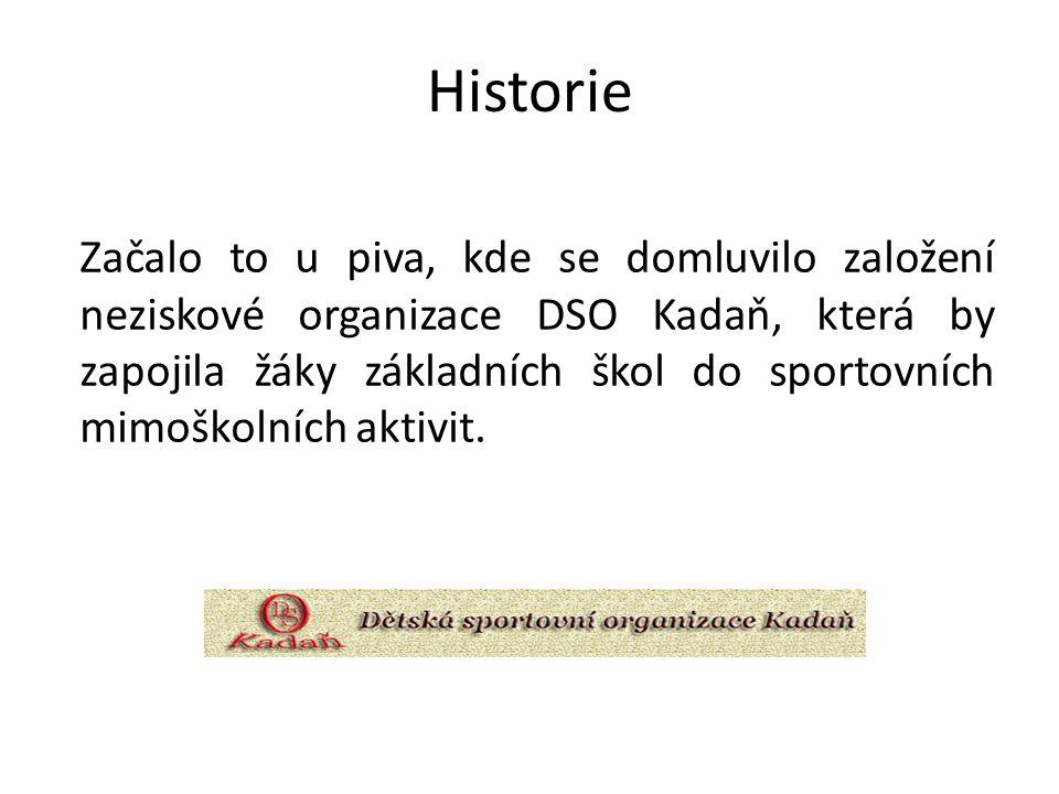Historie Začalo to u piva, kde se domluvilo založení neziskové organizace DSO Kadaň, která by zapojila žáky základních škol do sportovních mimoškolních aktivit.