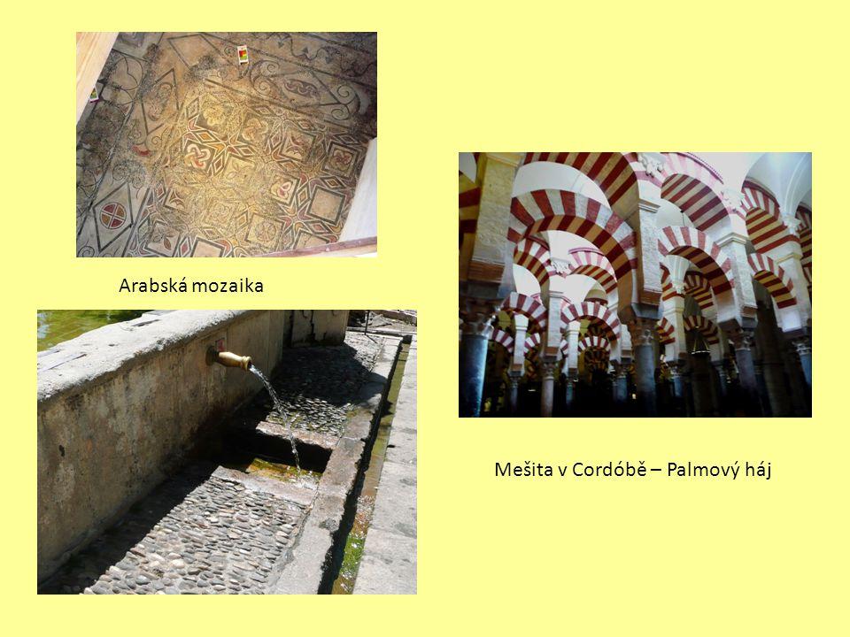 Mešita v Cordóbě – Palmový háj Arabská mozaika