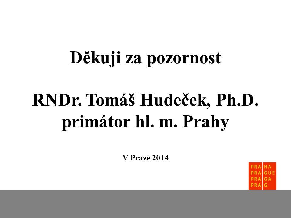 Děkuji za pozornost RNDr. Tomáš Hudeček, Ph.D. primátor hl. m. Prahy V Praze 2014