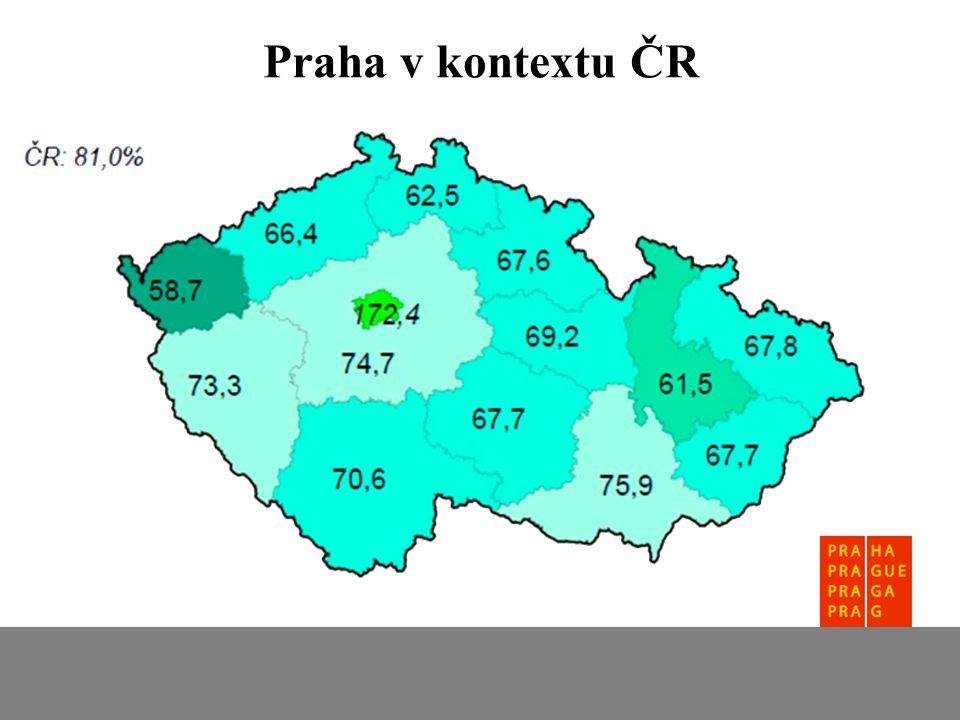Praha v kontextu ČR - pozorněji