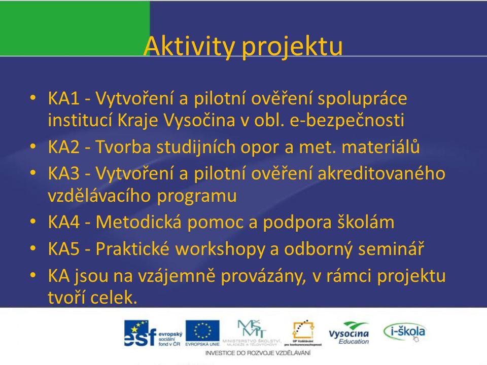KA1 - Vytvoření a pilotní ověření spolupráce institucí Kraje Vysočina v obl.