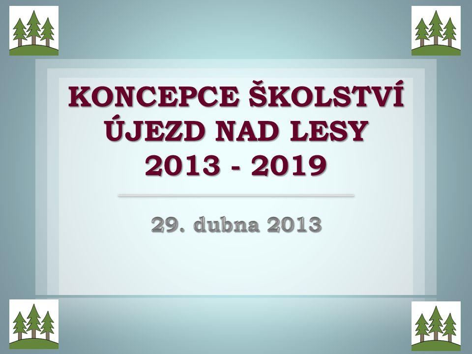KONCEPCE ŠKOLSTVÍ ÚJEZD NAD LESY 2013 - 2019