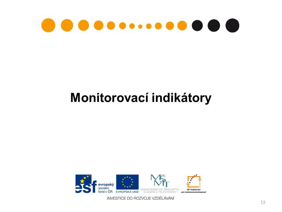 Monitorovací indikátory 13