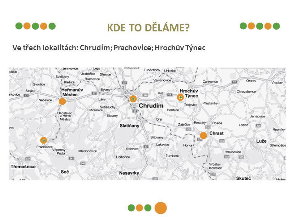 KDE TO DĚLÁME Ve třech lokalitách: Chrudim; Prachovice; Hrochův Týnec