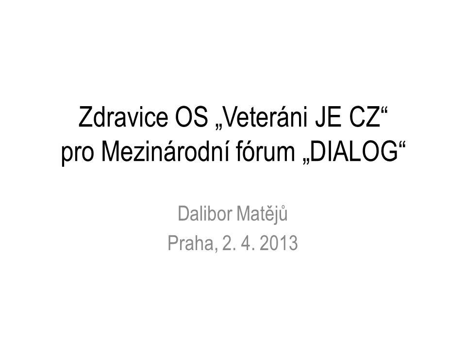 """Zdravice OS """"Veteráni JE CZ pro Mezinárodní fórum """"DIALOG Dalibor Matějů Praha, 2. 4. 2013"""