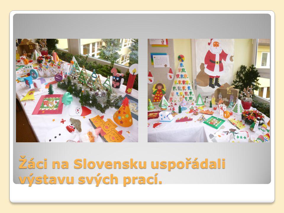 Žáci na Slovensku uspořádali výstavu svých prací.