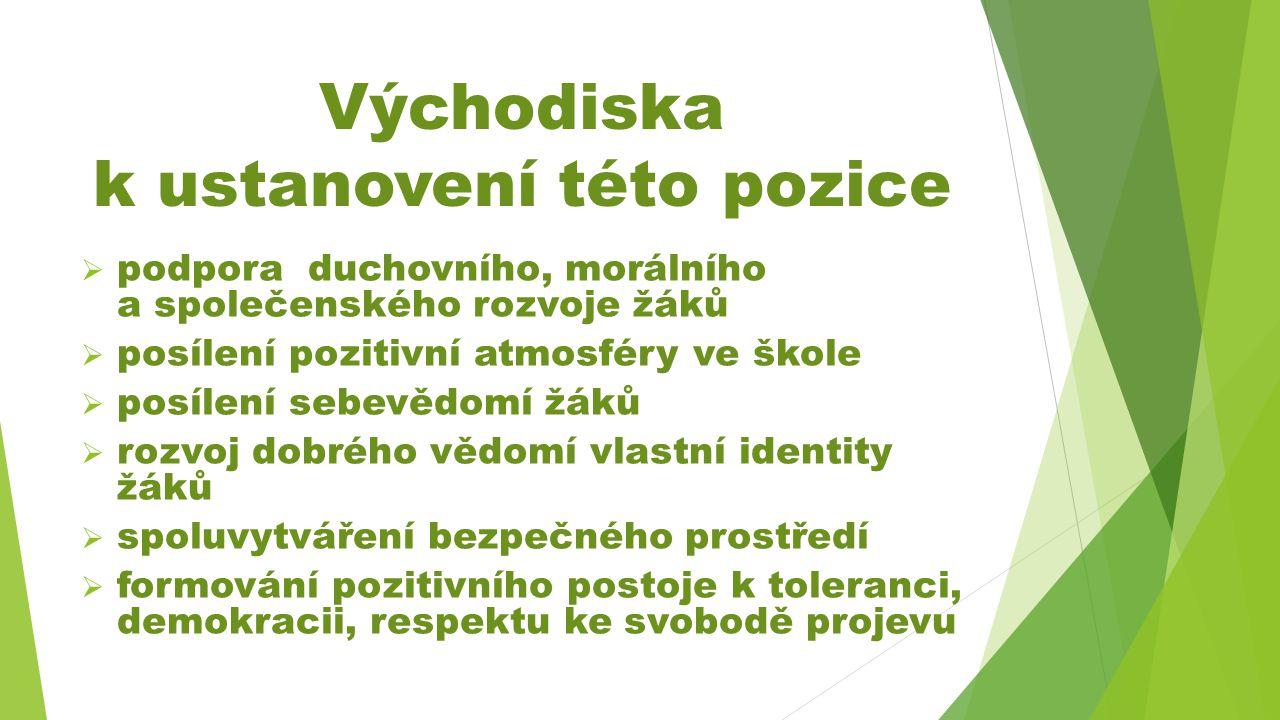 Učitel - - výchovný poradce  podle vyhlášky č.75/2005 Sb., v pl.