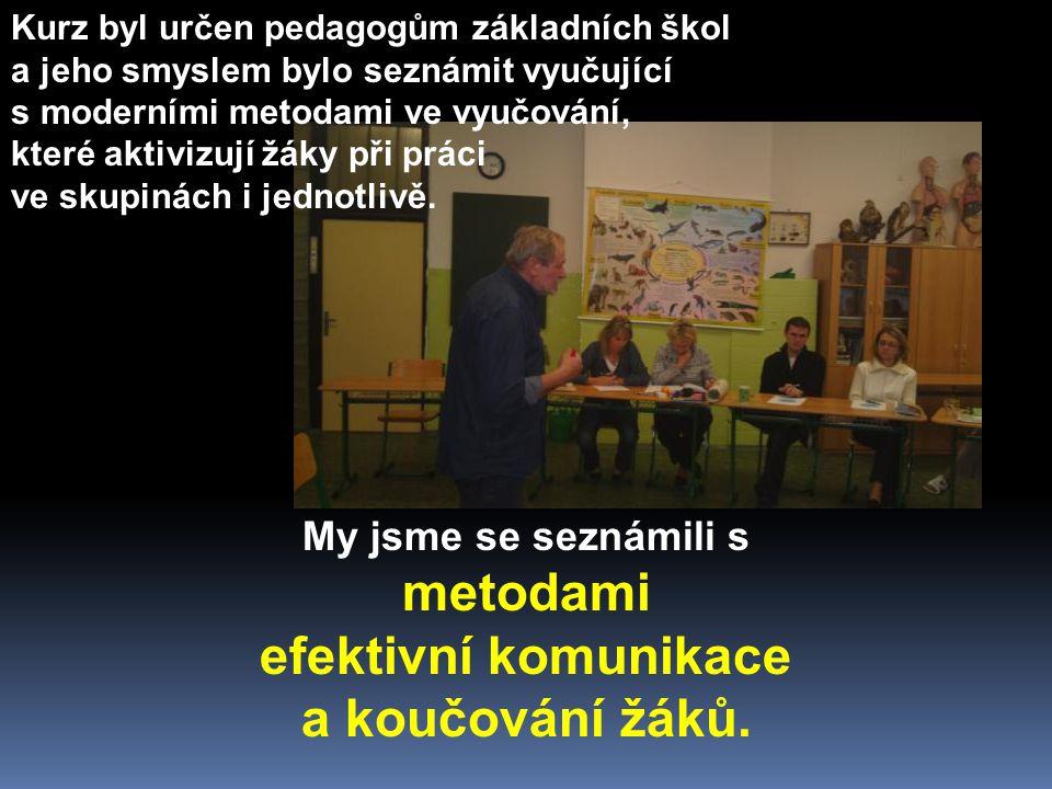Kurz zajistilo Metodické a edukační centrum (MEC), nezisková organizace Ostravské univerzity v rámci Projektu 1.3.