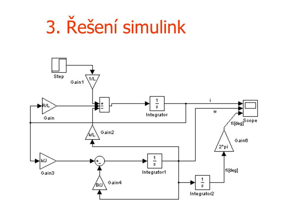 3. Řešení simulink