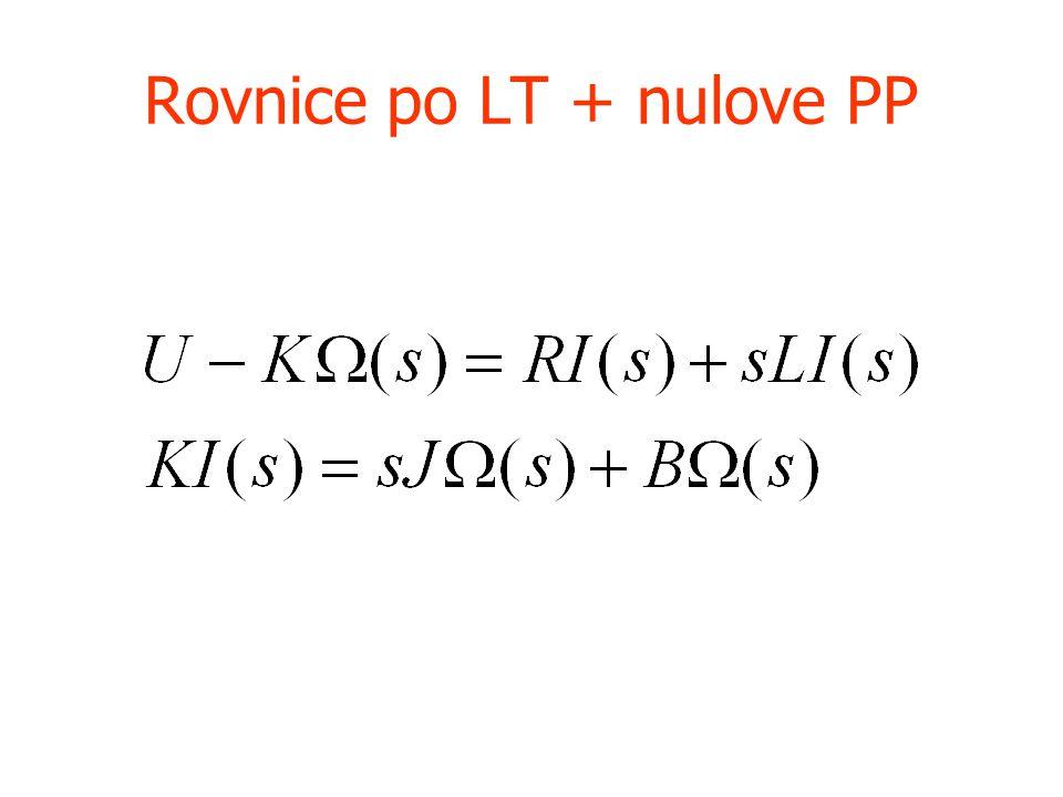 Rovnice po LT + nulove PP