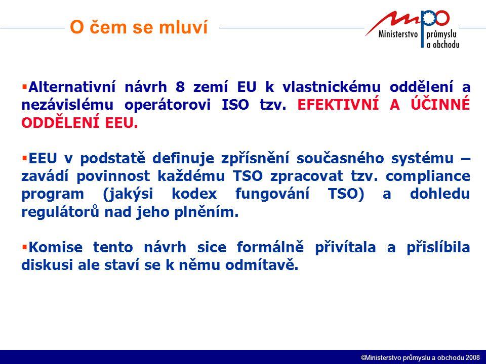  Ministerstvo průmyslu a obchodu 2008 Klimatický balíček Proč chce EK závazky k roku 2005.