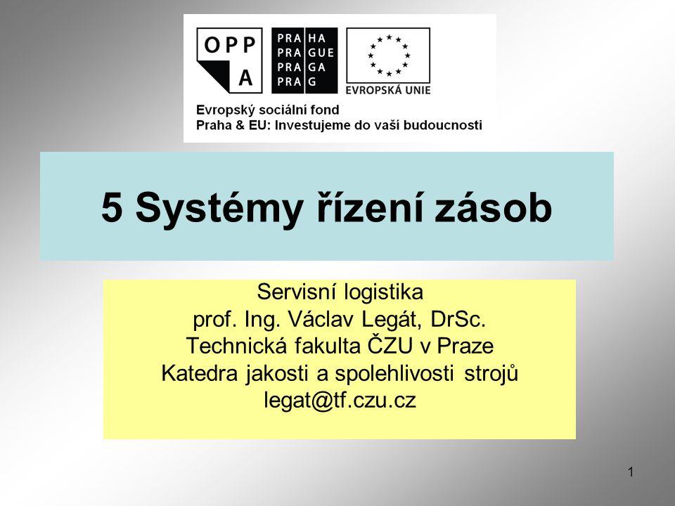 1 5 Systémy řízení zásob Servisní logistika prof.Ing.