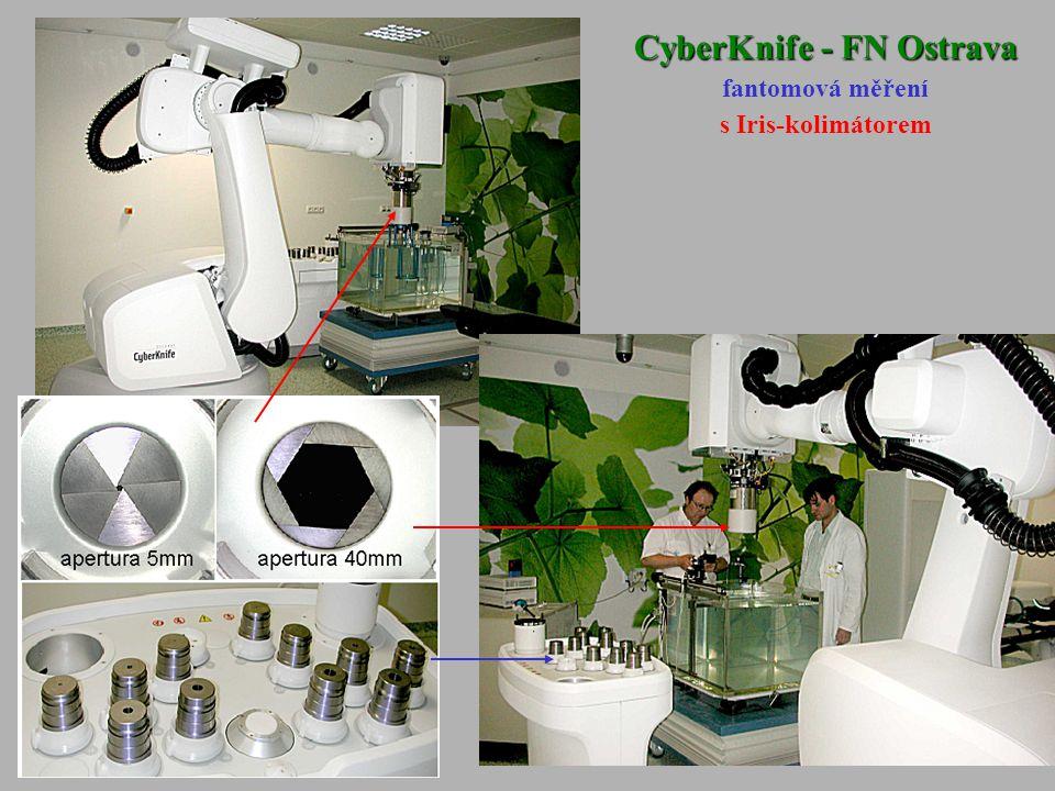 CyberKnife - FN Ostrava fantomová měření s Iris-kolimátorem