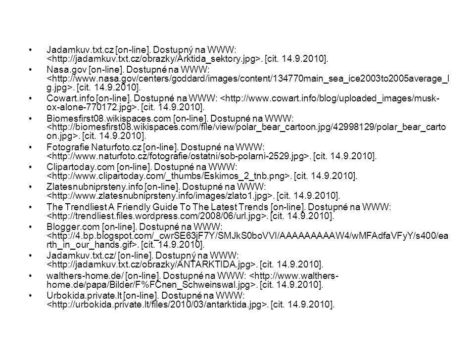 Jadamkuv.txt.cz [on-line]. Dostupný na WWW:. [cit. 14.9.2010]. Nasa.gov [on-line]. Dostupné na WWW:. [cit. 14.9.2010]. Cowart.info [on-line]. Dostupné