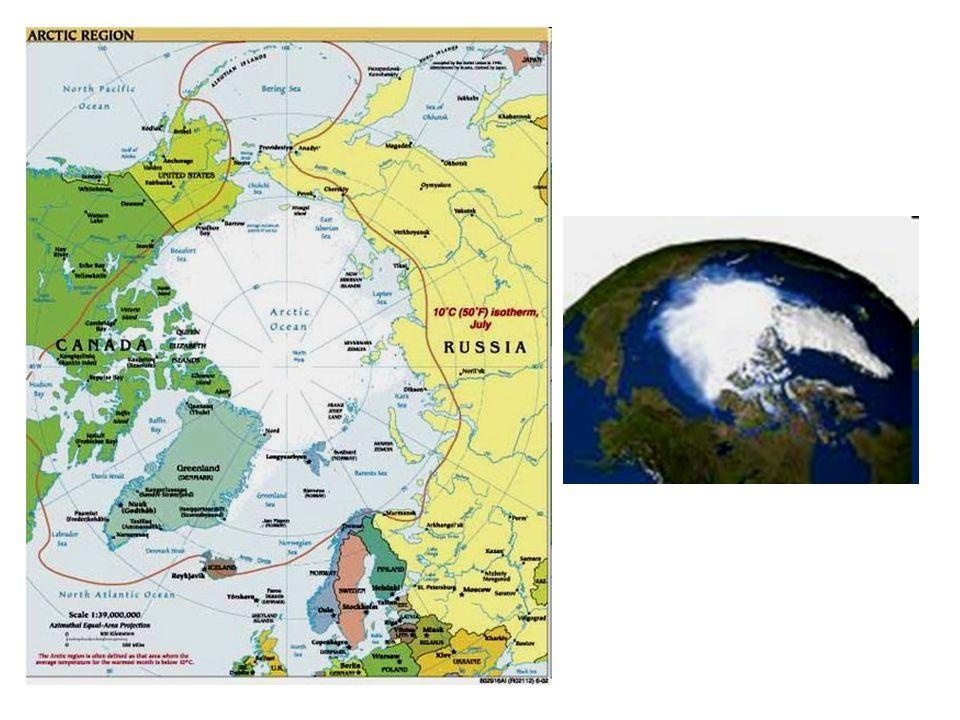 Arktida polohapoloha –S část Evropy, Ameriky –Severní ledový oceán + ostrovy plochaplocha: 21 mil.