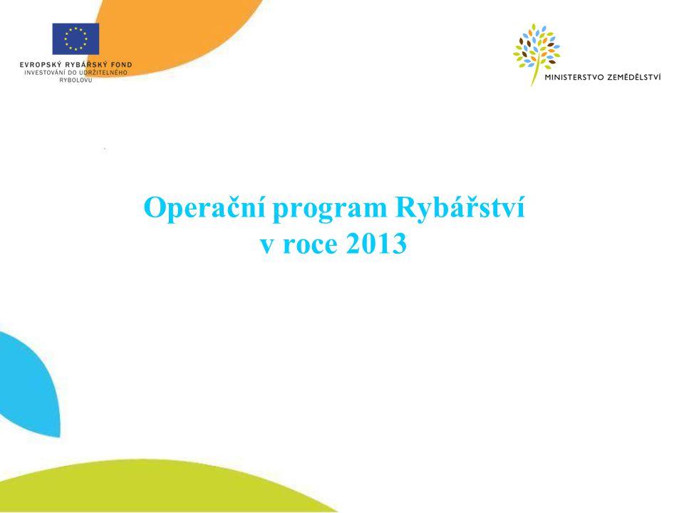 Operační program Rybářství v roce 2013