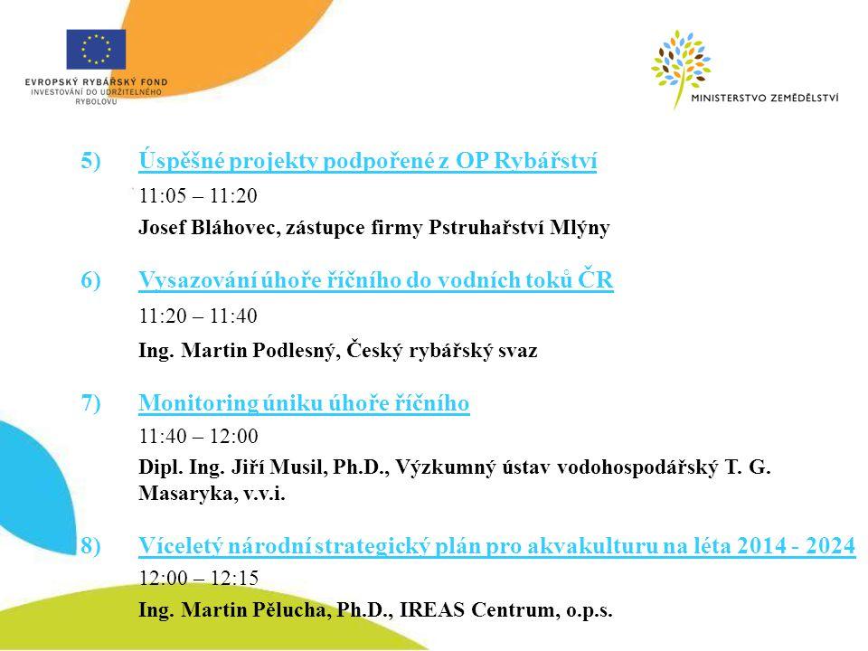 Úspěšné projekty podpořené z OP Rybářství Josef Bláhovec