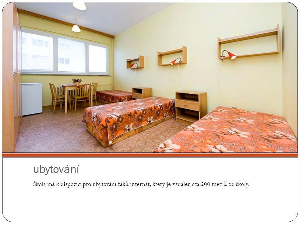 ubytování Škola má k dispozici pro ubytování žák ů internát, který je vzdálen cca 200 metr ů od školy.