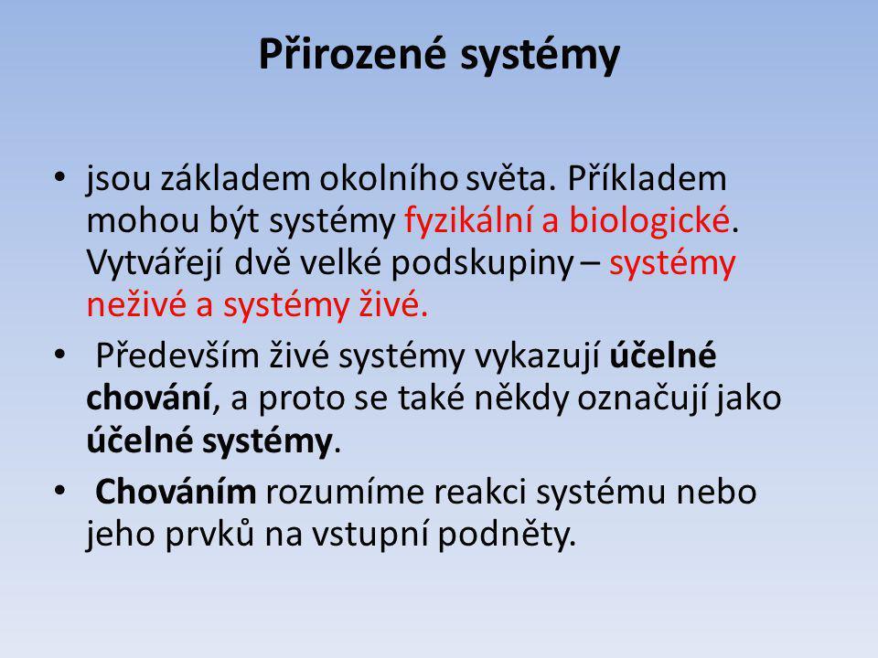 Přirozené systémy jsou základem okolního světa. Příkladem mohou být systémy fyzikální a biologické. Vytvářejí dvě velké podskupiny – systémy neživé a