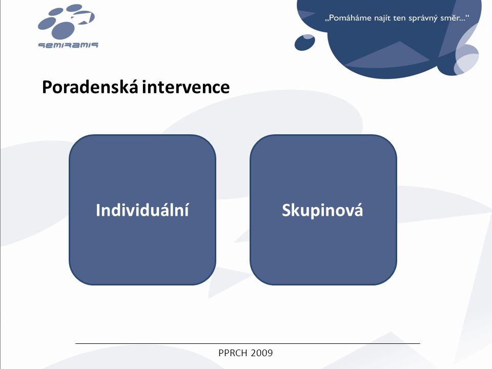 PPRCH 2009 Poradenská intervence IndividuálníSkupinová