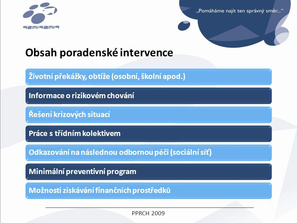 PPRCH 2009 Obsah poradenské intervence