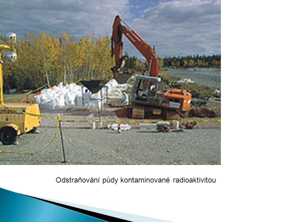Odstraňování půdy kontaminované radioaktivitou